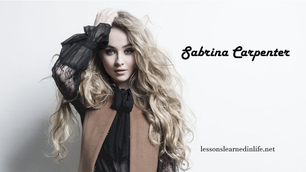 Top Best Sabrina Carpenter Quotes & Sayings